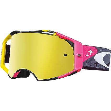 ce91c4303ed Amazon.com  Oakley Airbrake MX TLD Collection Men s Dirt Off-Road  Motorcycle Goggles Eyewear - Cosmic Camo Neon 24K Iridium One Size Fits  All  Automotive