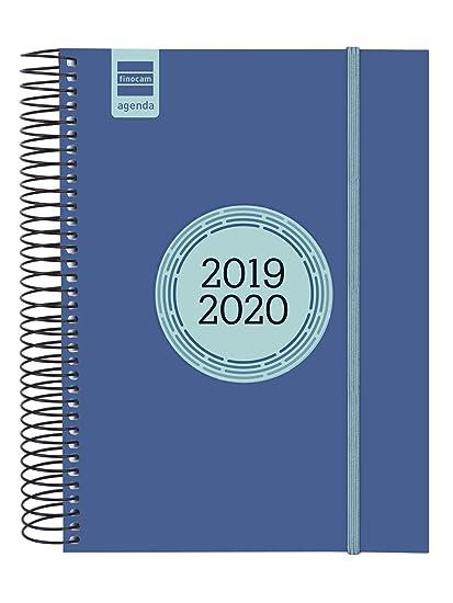 Finocam - Agenda 2019-2020 1 día página español Espir Label Azul Cobalto
