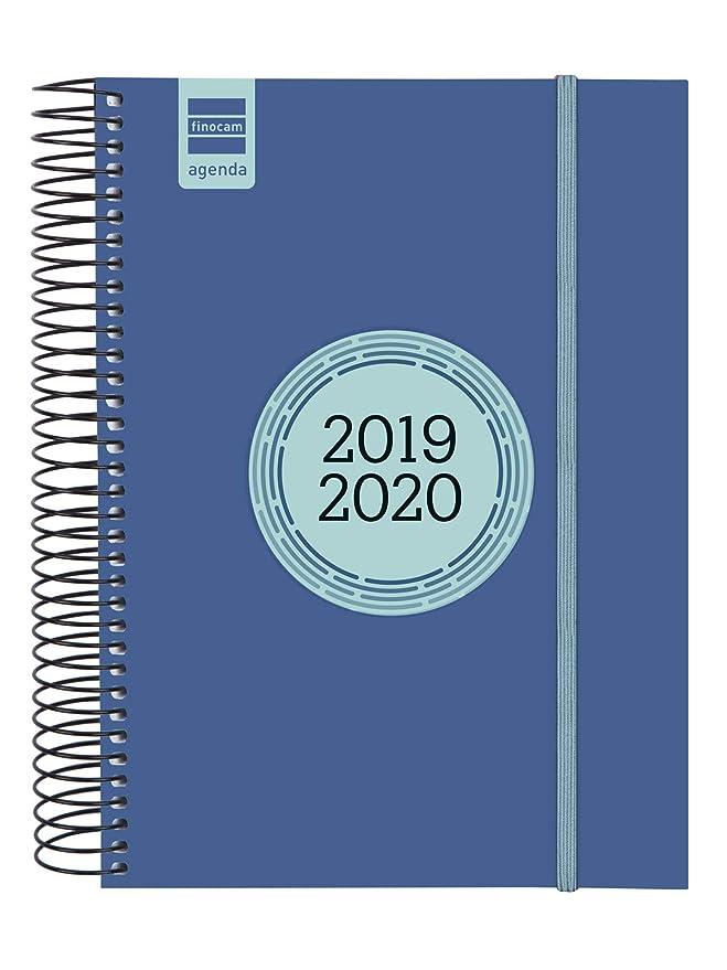 Finocam - Agenda 2019-2020 semana vista apaisada catalán Espir Label Azul Cobalto