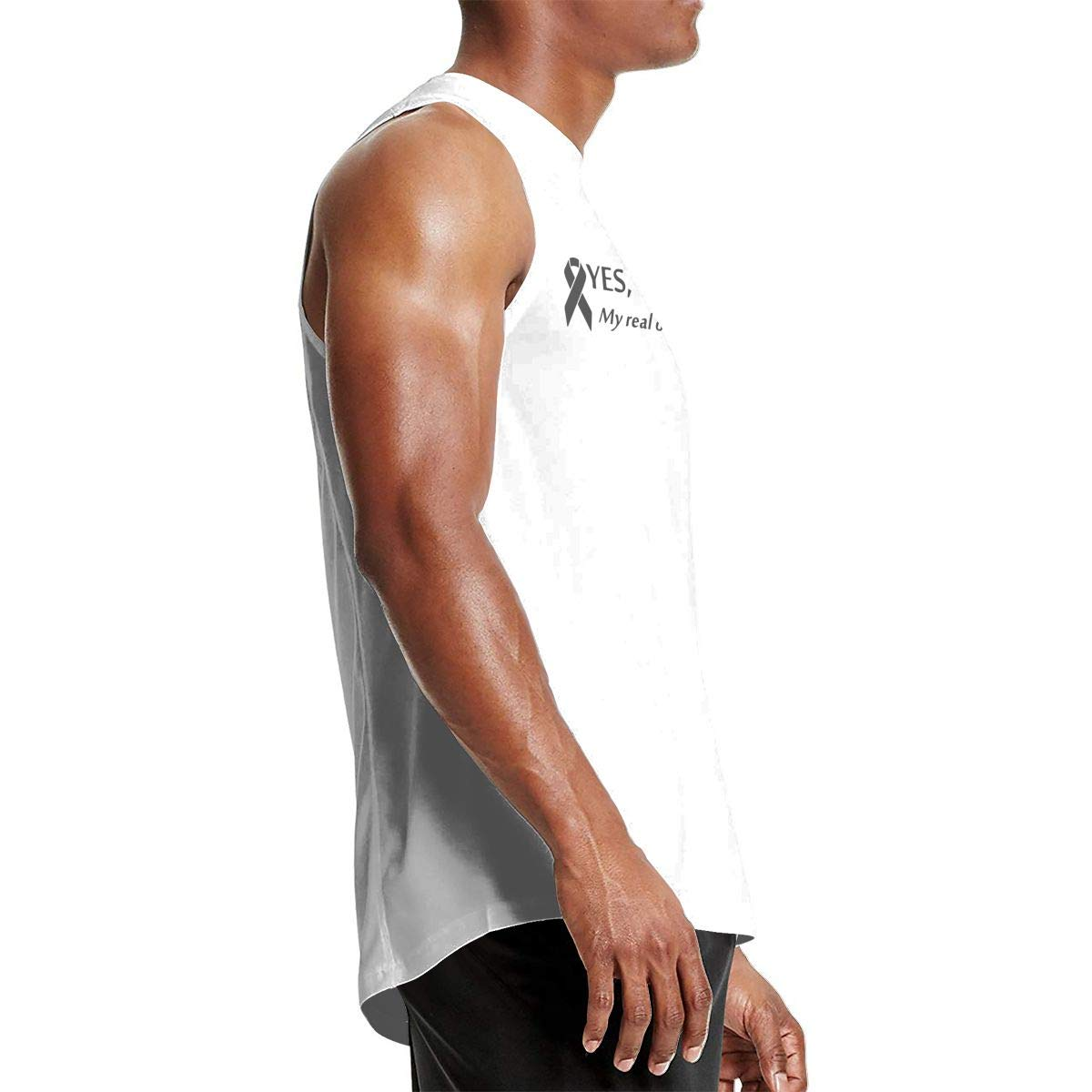 Loose Fit 100/% Cotton Vest for Mens Mens Yes Theyre Fake My Real Ones Tried Kill Me Tank Top