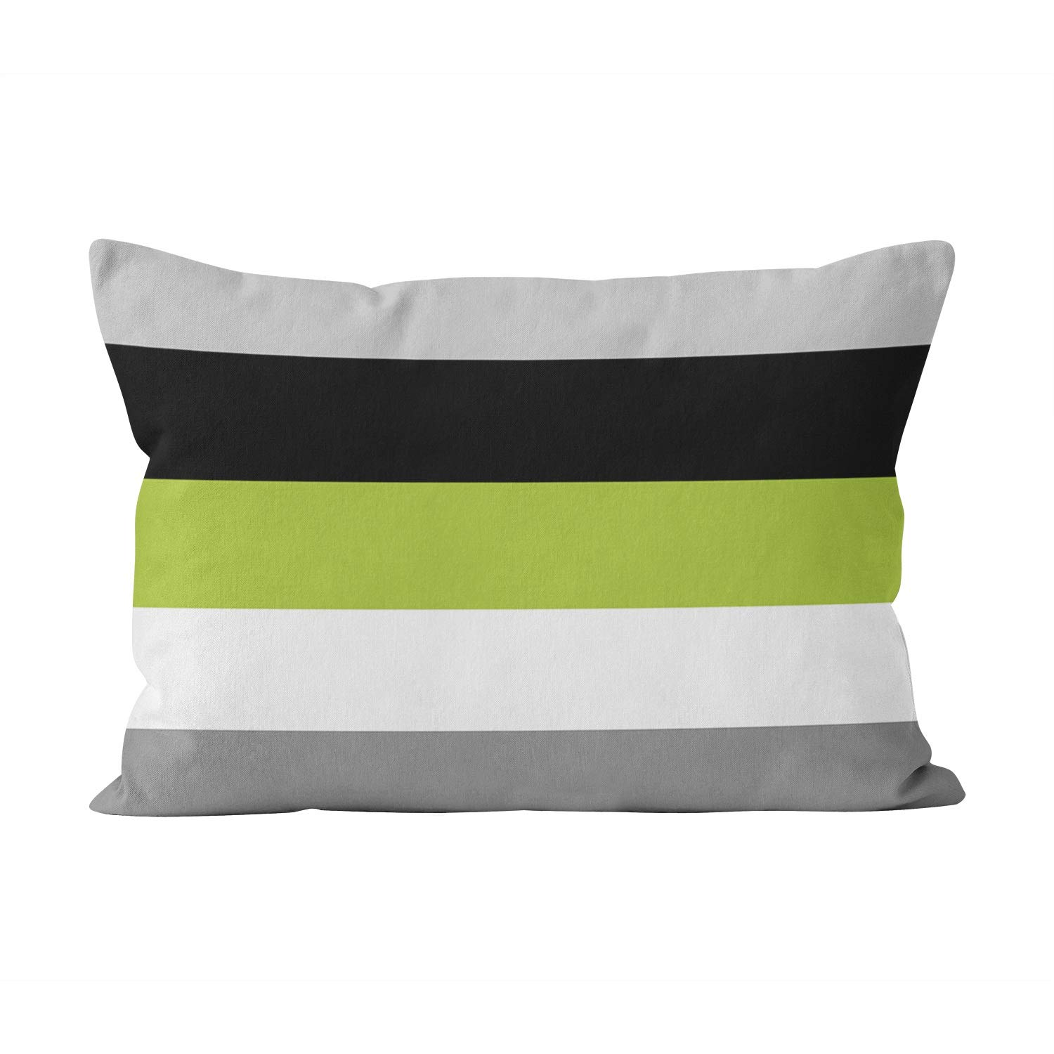 Sokiiy Color Block Lime Green Gray Black and White Beauty Hidden Zipper Home Decorative Rectangle Throw Pillow Cover Cushion Case Boudoir 12x20 Inch One Side Design Printed Pillowcase