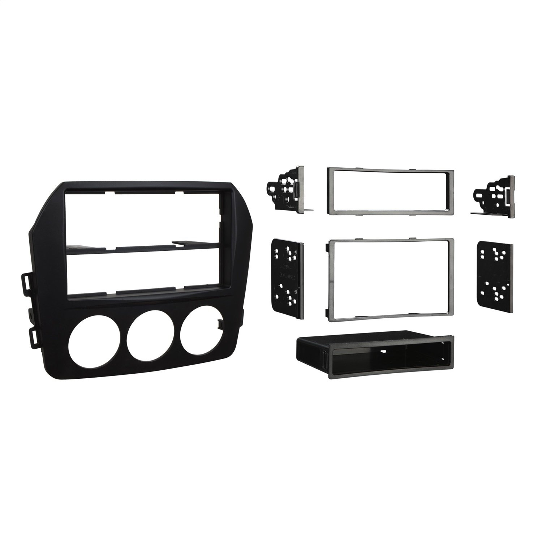 Metra 99-7519B Mazda Miata Installation Dash Kit for Single DIN or Double DIN/ISO Radios, Black