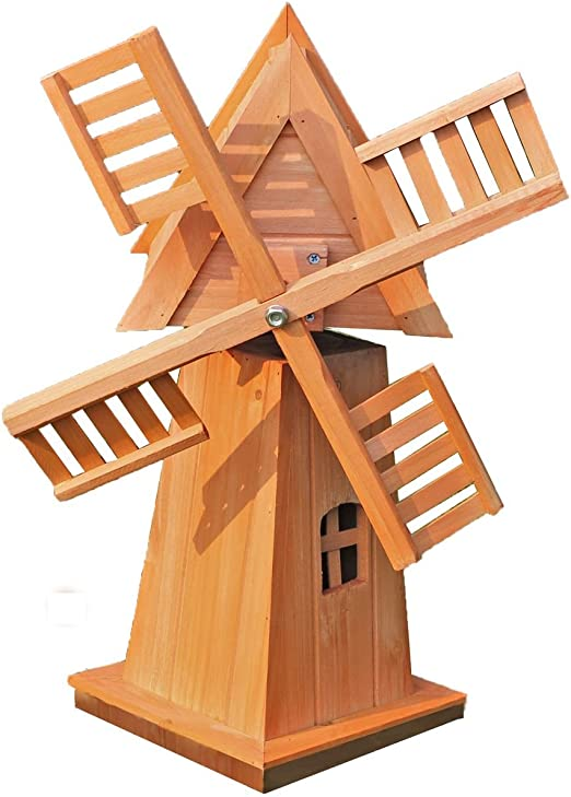 Molino de viento de madera: Amazon.es: Jardín