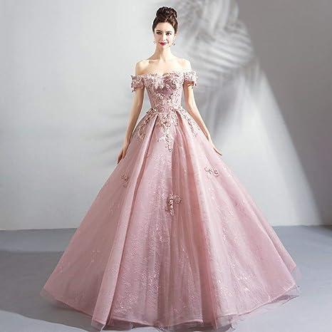 Ty Er Vestido De Novia De Color Rosa Piso De Longitud