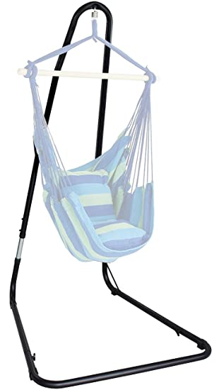 Amazon.com : Sorbus Hammock Chair Stand For Hanging Chairs, Swings,  Loungers, 330 Pound Capacity, Perfect For Indoor/Outdoor Patio, Deck, Yard  (Adjustable ...