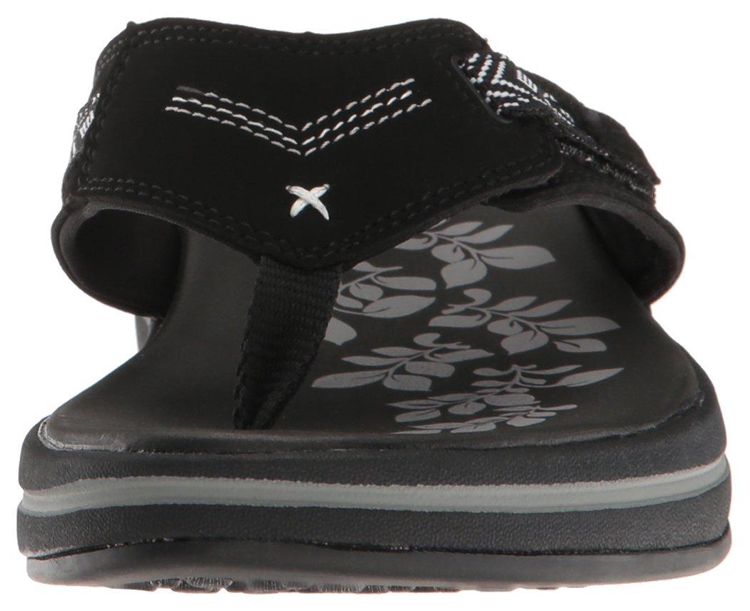Skechers Modern Comfort Sandals Women's Upgrades Marina Bay Flip Flop Black/White, 8 M US by Skechers (Image #4)