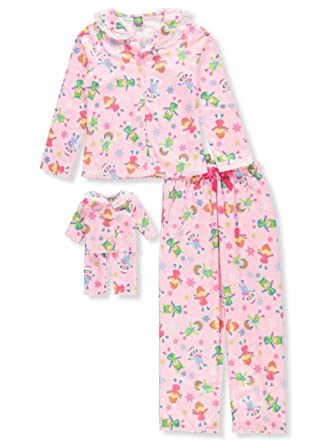 Amazon.com  Dollie   Me Girls  2-Piece Pajama Set with Doll Outfit  Clothing c0dbefc5c