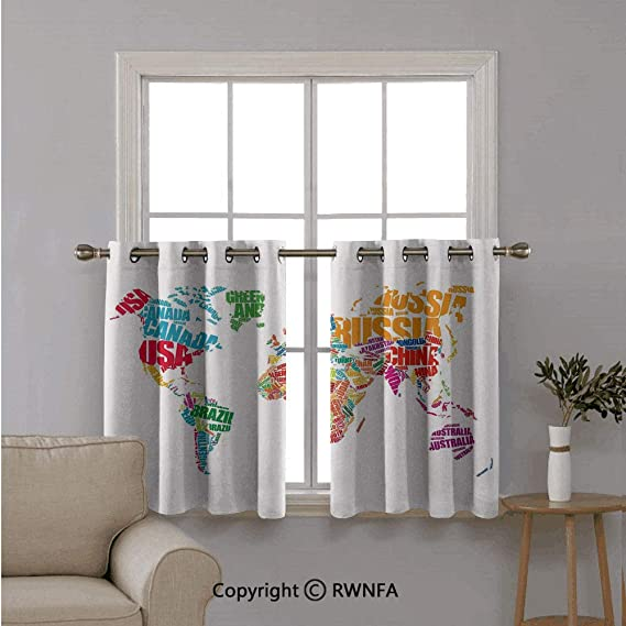 Cortinas cortas para ventana, para cocina, pájaros sentados en jaulas colgadas en ramas de árboles florales elegantes, decoración de flores de paz, para cocina, baño o cualquier ventana pequeña, 42 x 36