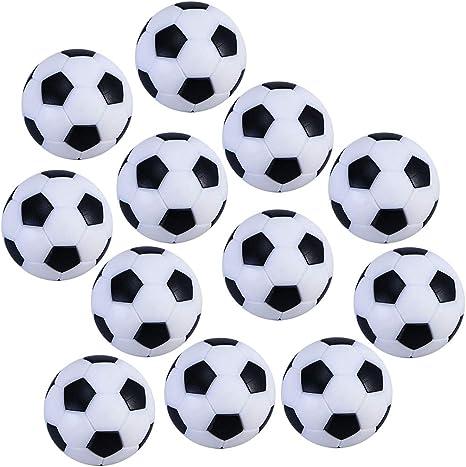 BESPORTBLE 12pcs / Bag balones de fútbol de Mesa balones de Juguete de fútbol en Blanco y