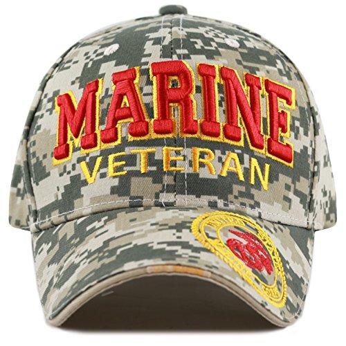Marine Digital Camo - THE HAT DEPOT 1100 Official Licensed Military 3D Embroidered Logo Veteran Cap (Marine-Digital Camo)