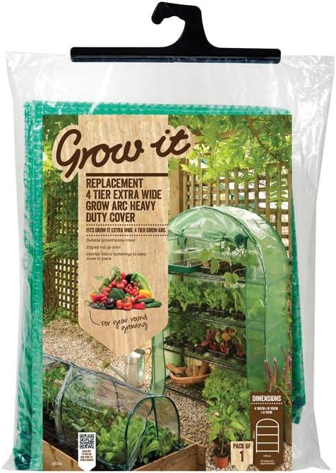 Green 45x105x160 Grow It Gardman 4 Tier Extra Wide Arc with Heavy Duty Cover