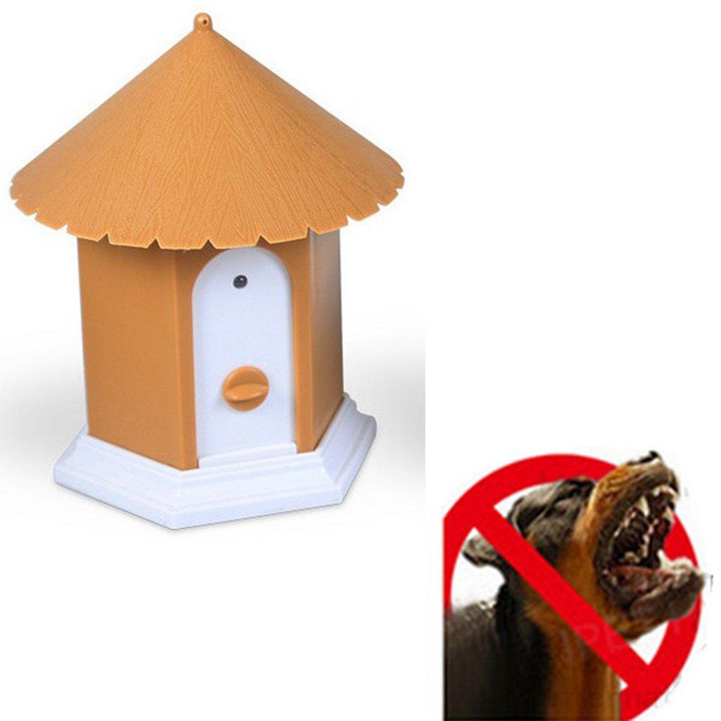 Brown Homyl Outdoor Dog Sonic Trainer Anti Barking Control Device Barking Deterrent Repeller