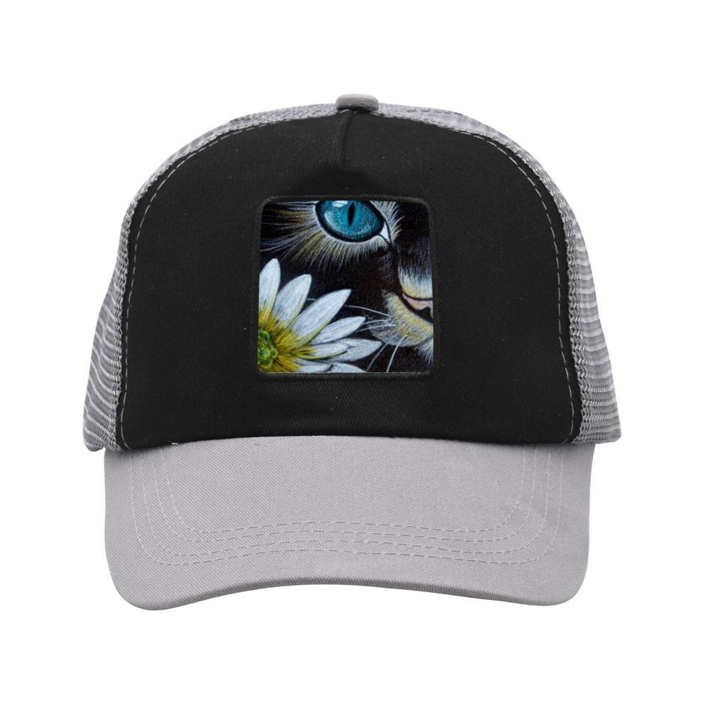 6a961f97 Amazon.com: GHFDD1DF6 Daisy Cat 3D Printing Outdoor Patched Twill Mesh Cap  Hats for Adults Black: Sports & Outdoors