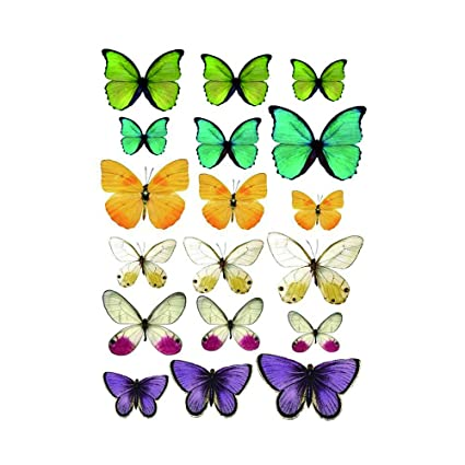 wyuen 5 pcs mariposa mujeres temporales tatuaje pegatinas ...