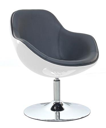 Lounge sessel schwarz weiß  designbotschaft: Bari - Loungesessel - Weiß/ Schwarz: Amazon.de ...