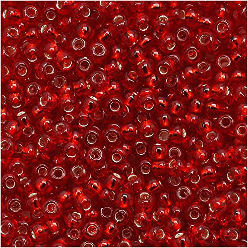 Toho Round Seed Beads 11/0#25C 'Silver Lined Ruby' 8 Gram Tube