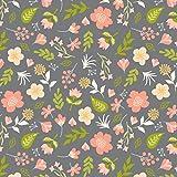 Vintage Floral Pattern Printed Heat Transfer Vinyl (12 x 24)