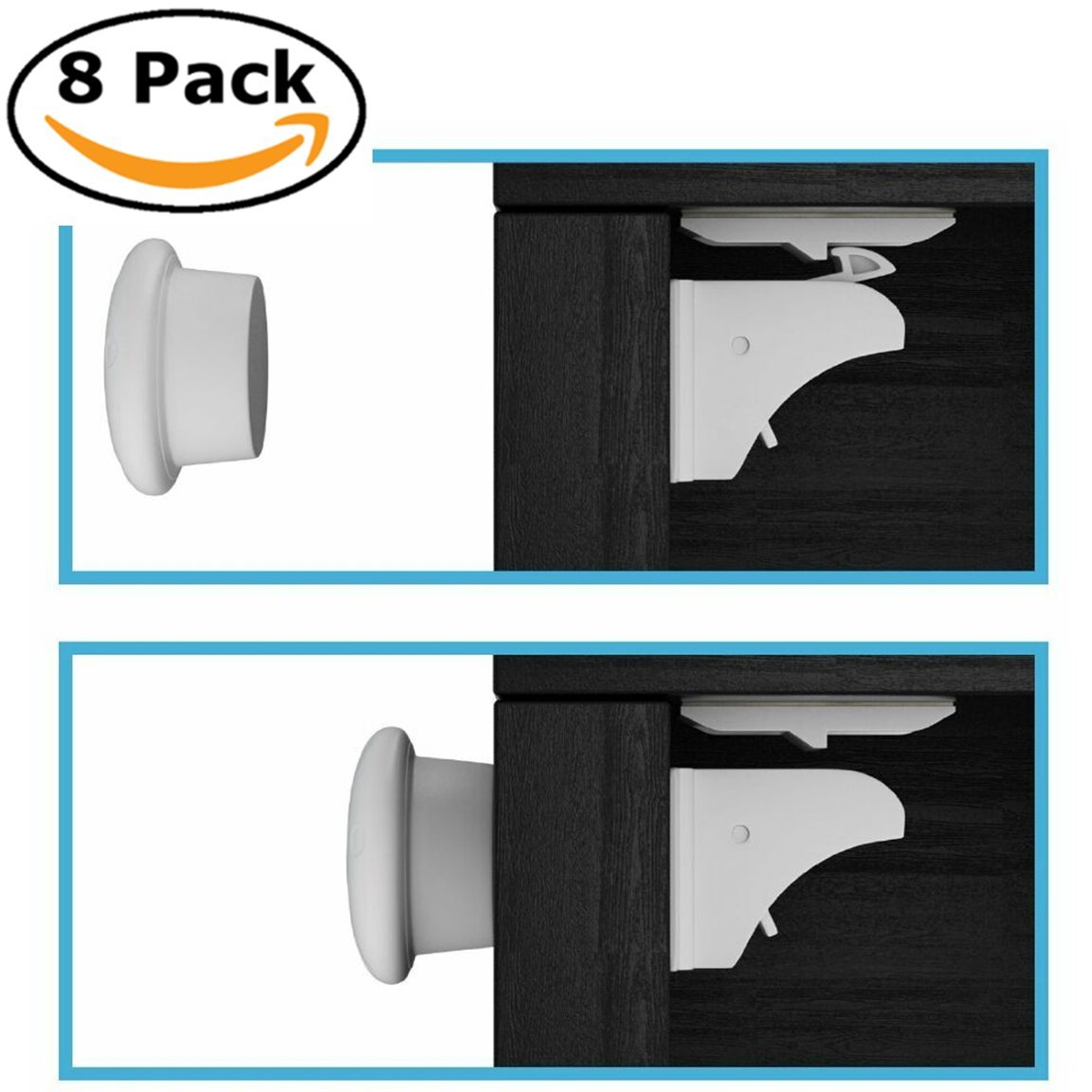 Amazon.com : EliteBaby Magnetic Cabinet Locks   No Tools Or Drilling  Required! 8 Locks And 2 Keys : Baby