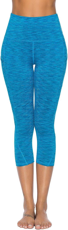Hibbent Laufhose Damen mit Tasche lang Leggins-Hohe Taille-Stretch-Hose Lauf Tights f/ür Smartphone Handy Schl/üssel Yoga