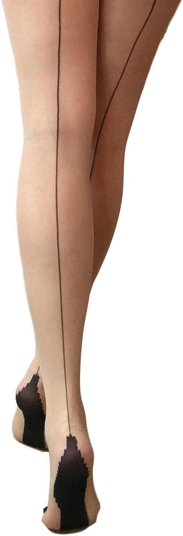 Ladies 1 Pair Jonathan Aston Contrast Seam And Heel Tights