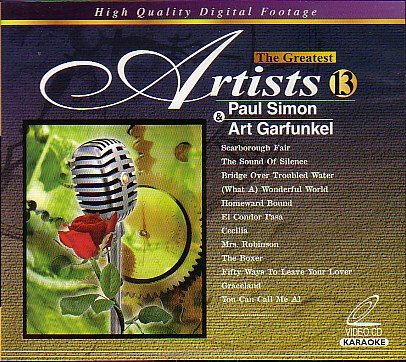 Karaoke: The Greatest Artist Video CD - Paul Simon & Art Garfunkel Vol. - Karaoke Paul Simon