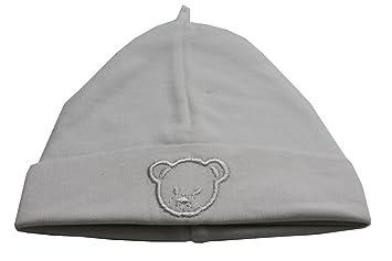 Bonnet coton BLANC naissance ideal pour la maternité  Amazon.fr ... e0c102d283f