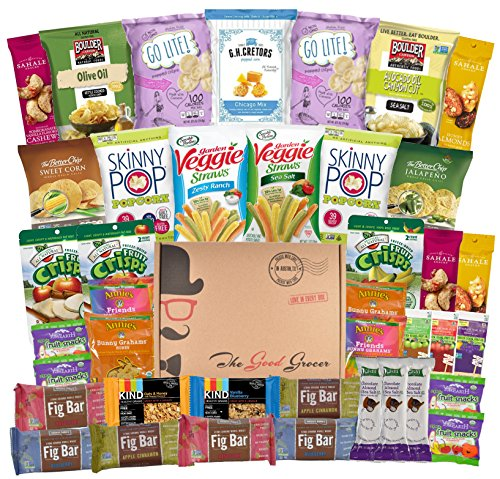 Non-GMO and Natural Healthy Snacks Care Package - College, Military, Get Well, Thank You Gift, School Lunch, Office Variety Pack (Healthy Snacks, 40 Count) (Sending Care Packages)