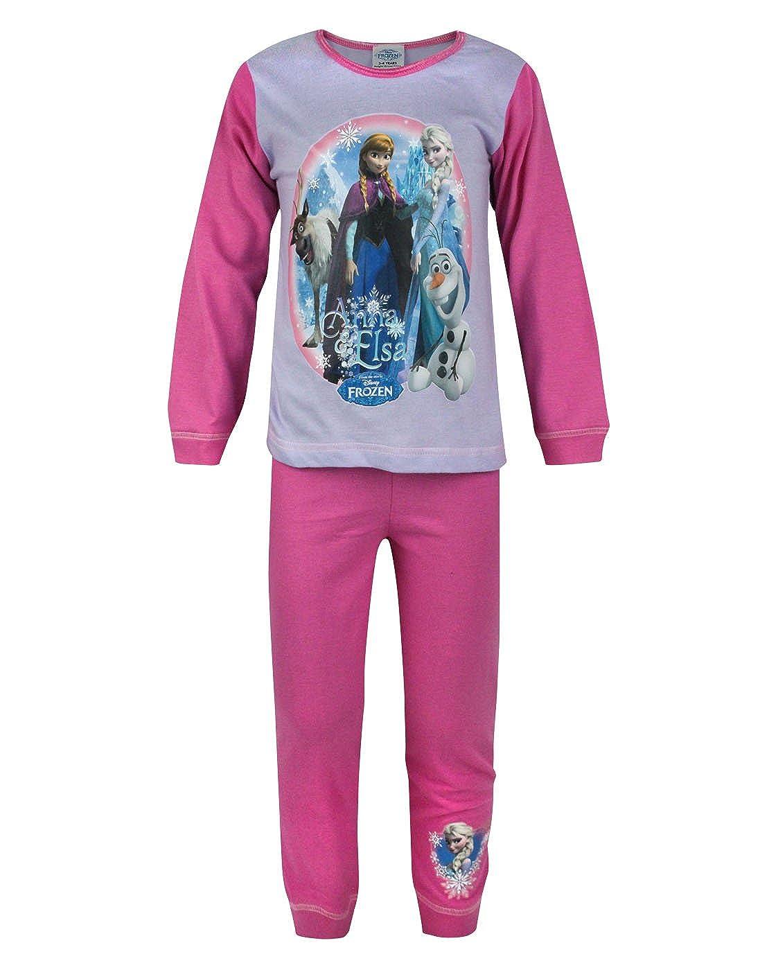 Official Frozen Anna And Elsa Girl's Pyjamas