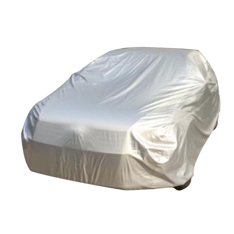 logei® General Motors Couverture Voiture Couverture Anti poussière Etanche Anti soleil Anti-UV Couverture universelle pour Voiture, 406*165*120cm, S/Argent
