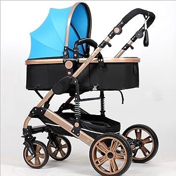 Strollers DD Bicicleta de bebé El Cochecito Plegable para bebés recién Nacidos Puede Sentarse y Dormir ...
