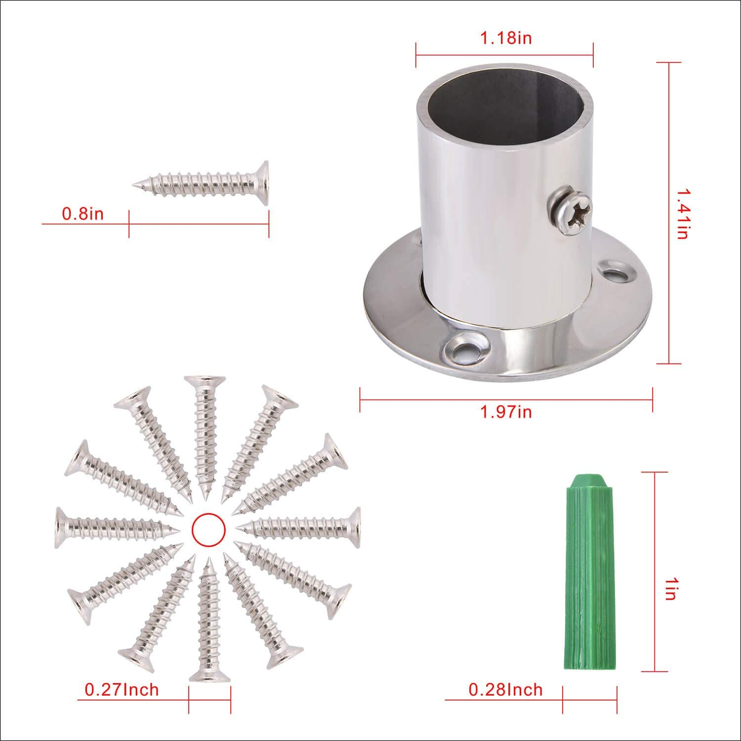 """Support Hook Articulated shower with water socket 1//2/"""""""