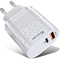 PD Fast Charger 18W QC3.0 Fast Charging Adapter With USB A Type C Dual Ports