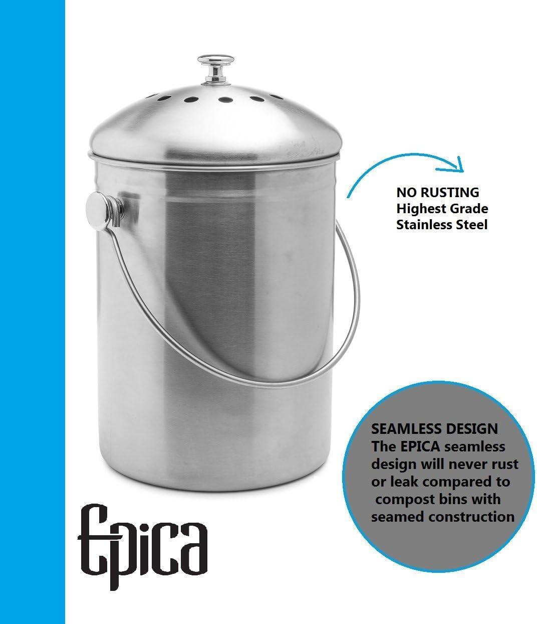 Epica's kitchen compost bin