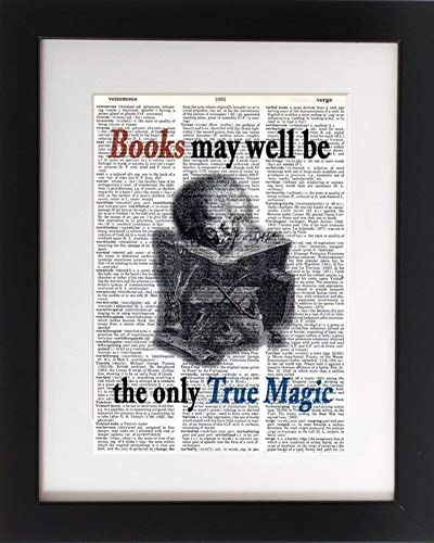 Amazon.com: Books, True Magic - Upcycled Dictionary Art Print 8x10 ...