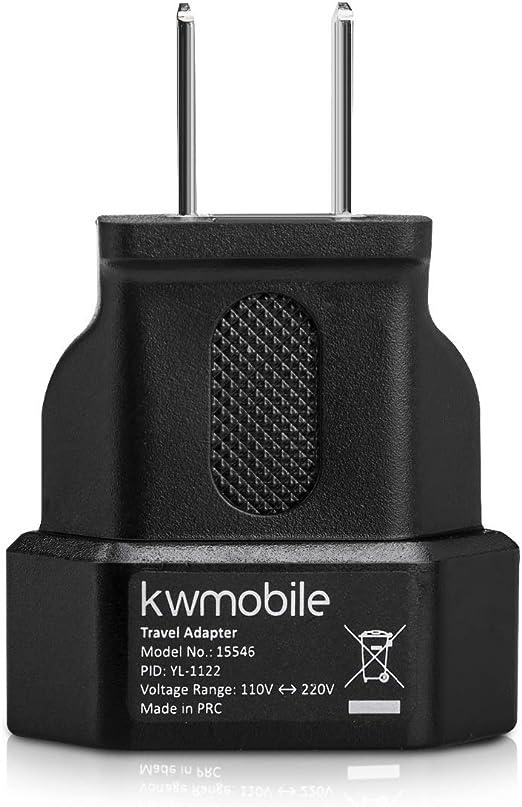 Canada kwmobile 3X Adaptateur de Voyage pour Passer de la Prise europ/éenne /à lam/éricaine Mexique id/éal pour Les Voyages /à l/étranger