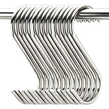 10 unidades tama/ño grande Juego de ganchos en forma de S acero inoxidable