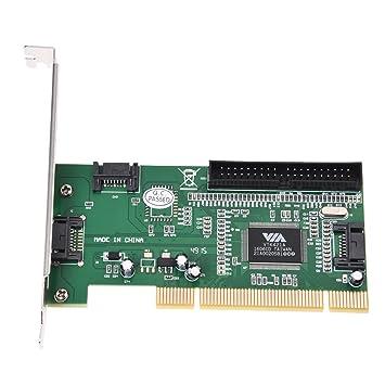 SODIAL(R) Tarjeta de expansion 4 puertos SATA PCI y chipset IDE VIA VT6421A