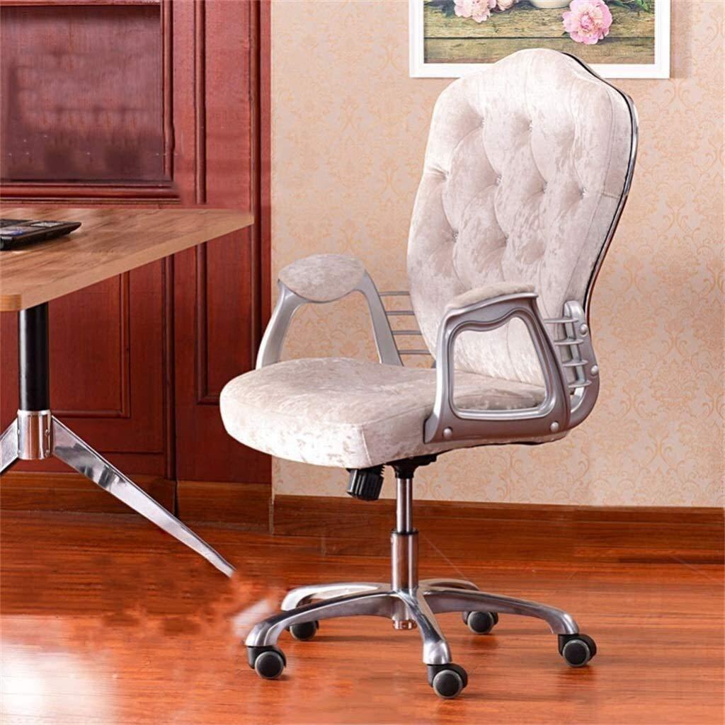 Pall aluminiumlegering fot fritidsbord och stol, hem datorstol, sovrum soffstol, hem bekväm stol rygg, lyft och roterande funktion. 65 × 52 × 109 cm (Färg: Rosa) BLÅ