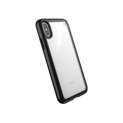 buy popular 1a69e a23c9 Speck Products Presidio Show iPhone Xs/iPhone X Case, Clear/Black
