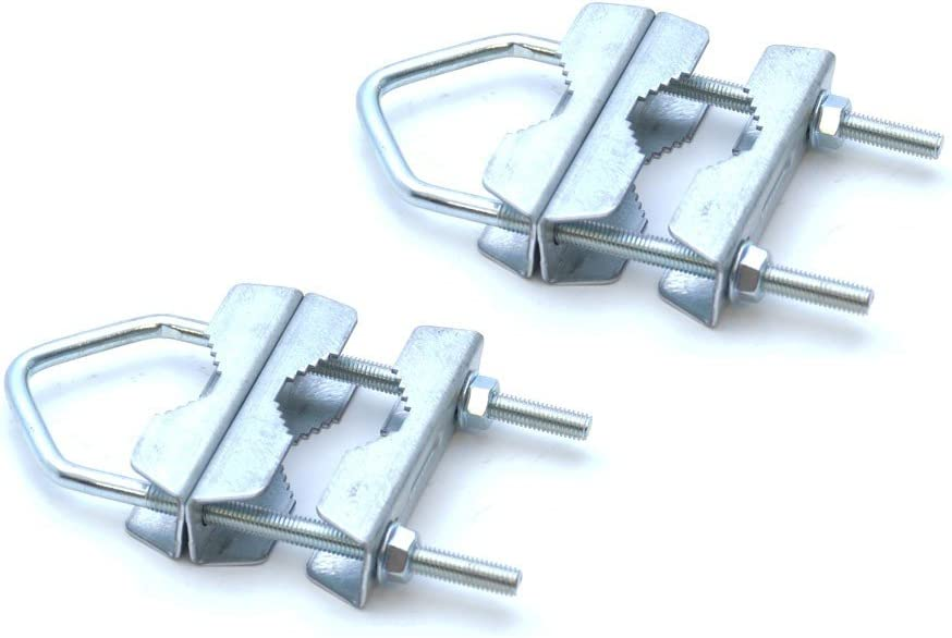 PremiumX mast clamp Sat mast tube Double clamp holder Galvanized HQ mast double clamp up to 60 mm antenna