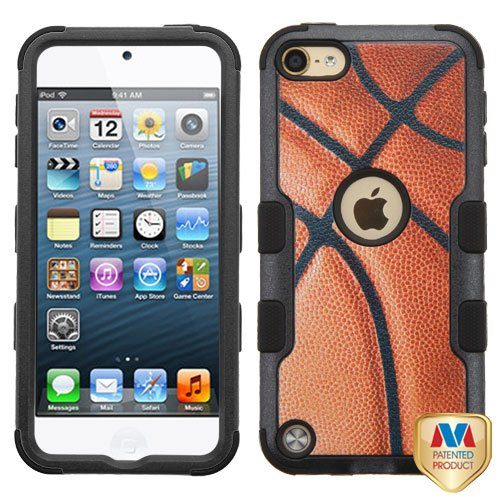 Apple iPod Touch 5th 6th Generation Basketball-Sports Black TUFF Hybrid Case Cover (Ipod 5 Cases Made By Mybat)
