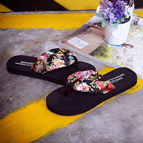 VENMO Sandalias Zapatilla Interior al Aire Libre Playa de Chanclas Zapatos de Mujer Verano Negro