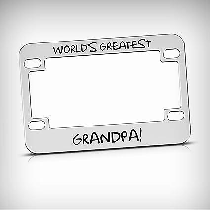 Amazon.com: World\'s Greatest Grandpa Metal Bike Motorcycle Tag ...