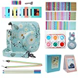 Blummy Instant Camera Accessories Bundles Set for Fujifilm Instax Mini 8/Mini 8+/Mini 9 Including Camera Case/Book Album/Selfie Len/Wall Hanging Frames/Stickers/Strap/Pen (Chrysanthemum)