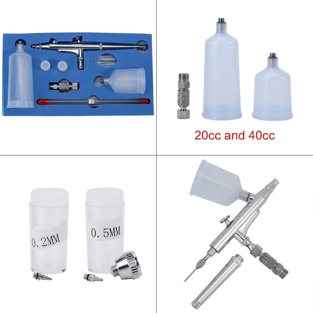 Kit aerografo Aerografo a doppia azione Mini compressore daria portatile Pistola a spruzzo Penna per pennello ad aria per trucco Tatuaggi per unghie