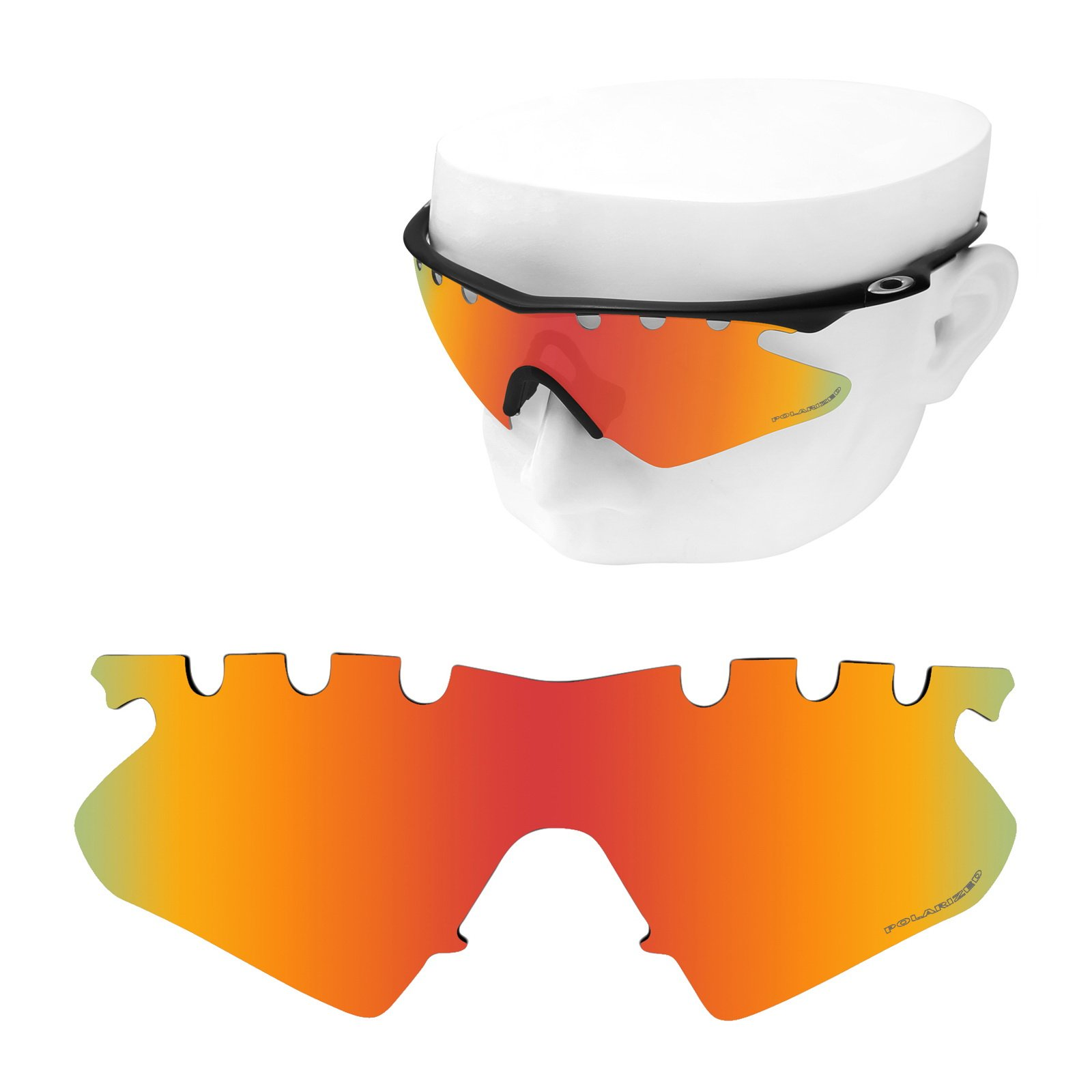 OOWLIT Replacement Sunglass Lenses for Oakley M Frame Heater Vented Fire Combine8 Polarized