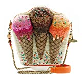 MARY FRANCES Melt Down Ice Cream Cones Embellished Handbag