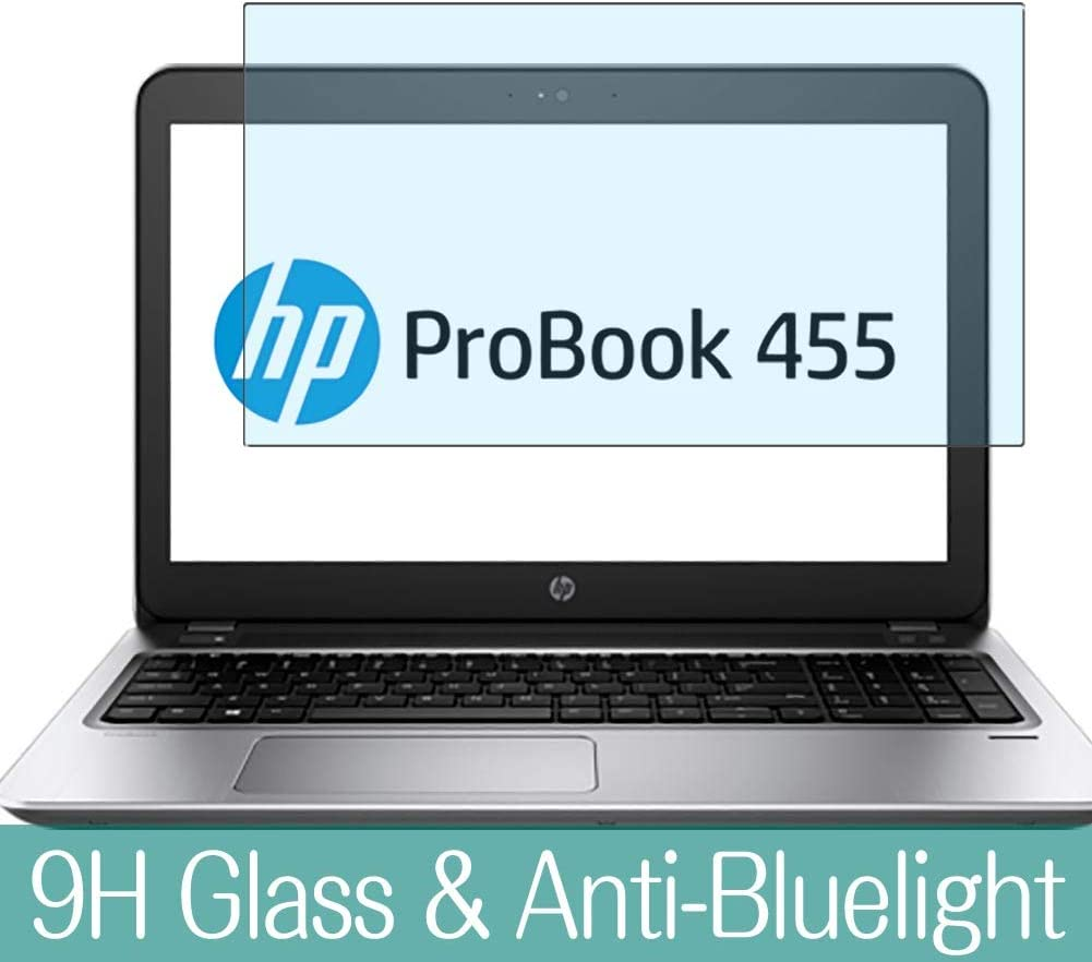 """Synvy Anti Blue Light Tempered Glass Screen Protector for HP ProBook 455 G4 15.6"""" Visible Area 9H Protective Screen Film Protectors"""