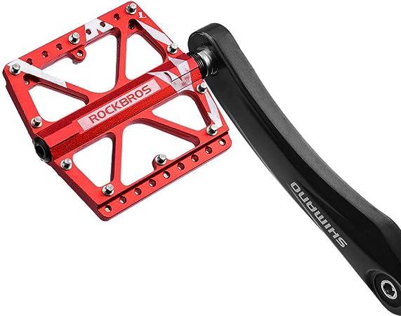 FRONTSTEP Ultraligero 3 Rodamientos Sellados Bicicleta de Carretera Trekking Pedales de Bicicleta Bicicleta Antideslizante Pedal de Aleaci/ón de Aluminio
