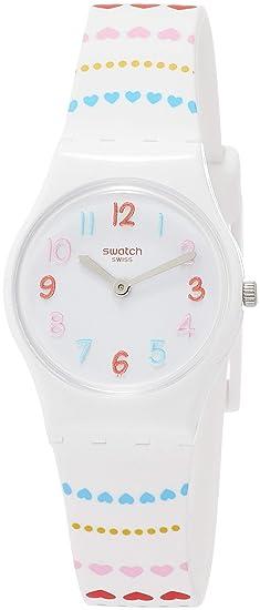 Swatch Reloj Analógico para Mujer de Cuarzo con Correa en Silicona LW164: Amazon.es: Relojes